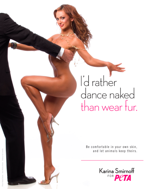 Karina Smirnoff goes nude for PETA