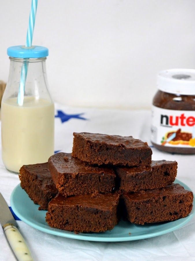 brownie de Nutella con solo 3 ingredientes