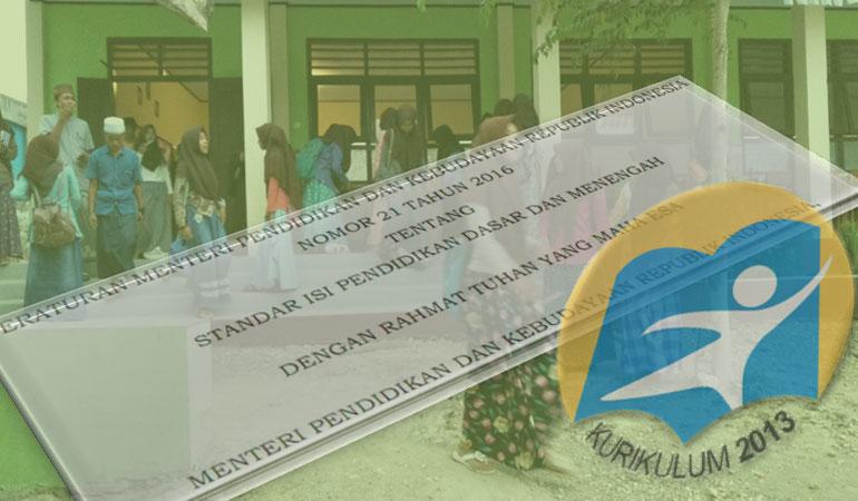 Permendikbud No 21 Tahun 2016 Standar Isi Pendidikan Dasar dan Menengah