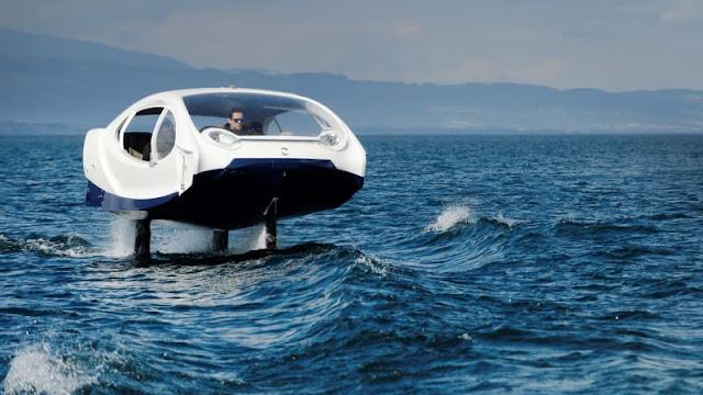 Taksi Listrik di Atas Laut