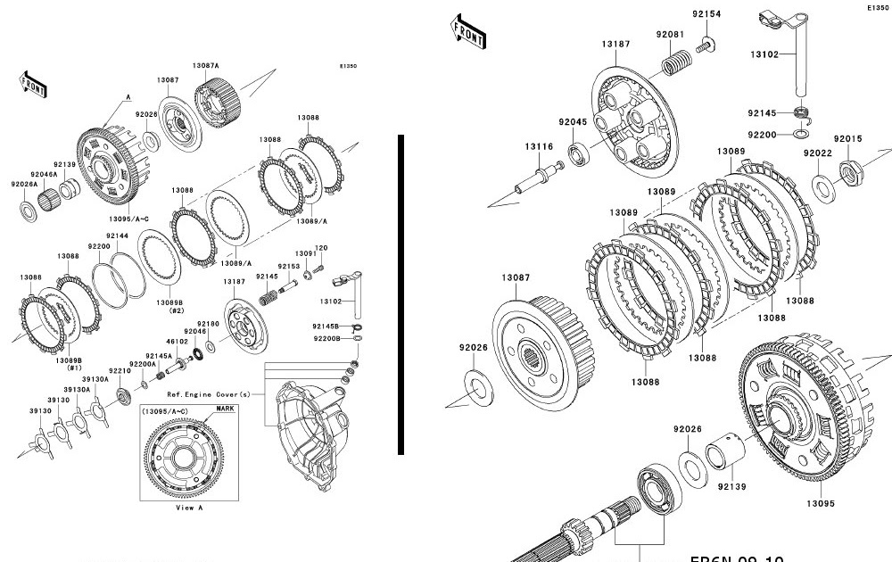 WebDC's Modding Hobbies.: ER6-N with a slippery Clutch