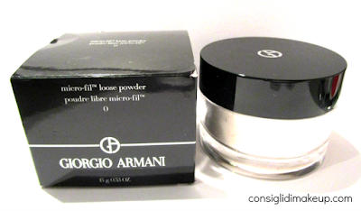 Review: micro-fil looose powder nr0 - Giorgio Armani