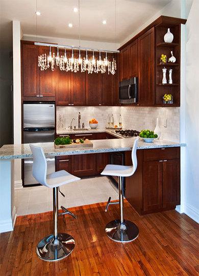 Ideas para cocinas peque as cocina y reposteros for Cocinas integrales modernas para espacios pequenos