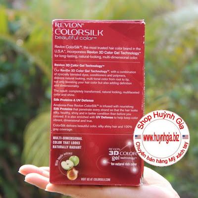 Thuốc nhuộm tóc Revlon 3B ColorSilk mã màu 32 hàng Mỹ xách tay www.huynhgia.biz