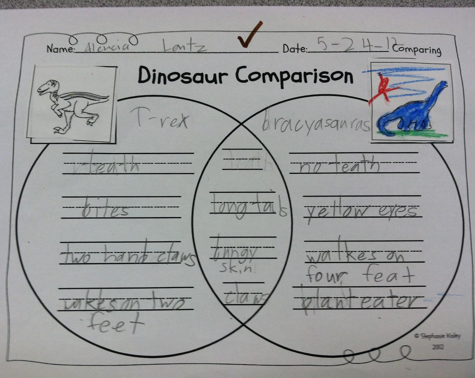 First Grade Fabulous Fish Dinosaurs Freebies