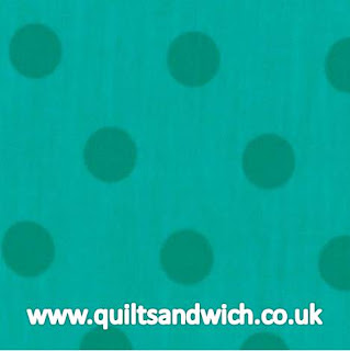Moda Dottie Aqua Extra Wide www.quiltsandwich.co.uk