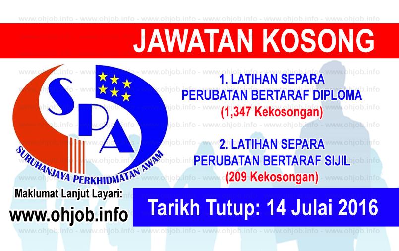 Jawatan Kerja Kosong Suruhanjaya Perkhidmatan Awam (SPA) logo www.ohjob.info disember 2016