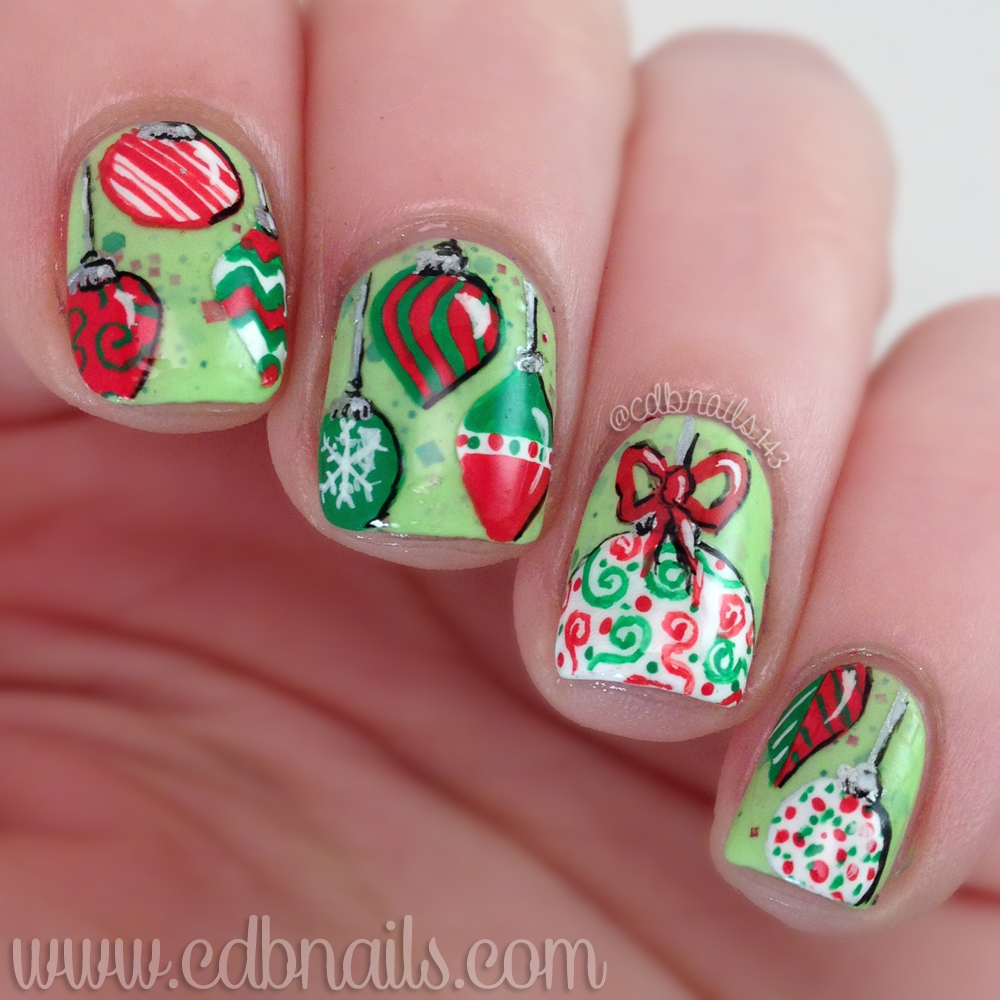 cdbnails: 12 Days of Christmas Nail Art | Ornaments