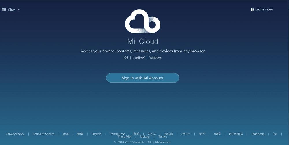 Cara Mudah Membuat Akun Xiaomi Mi Cloud