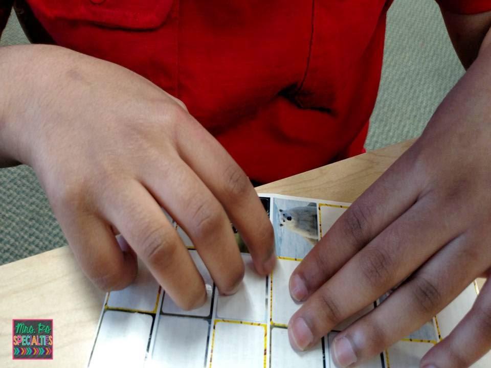 photo of student peeling sticker