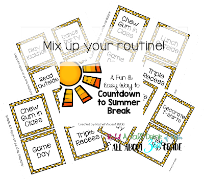 A fun & easy way to Countdown to Summer Break FREEBIE www.allabout3rdgrade.com