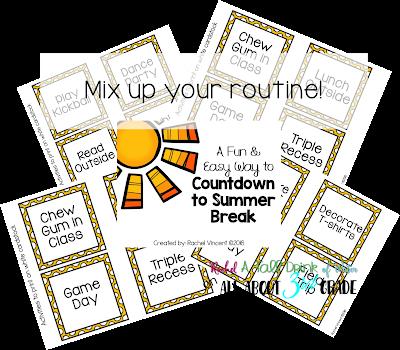 A fun & easy way to Countdown to Summer Break FREEBIE www.allabout3rdgrade.com