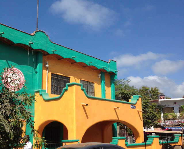 colourful buildings of Sayulita Mexico