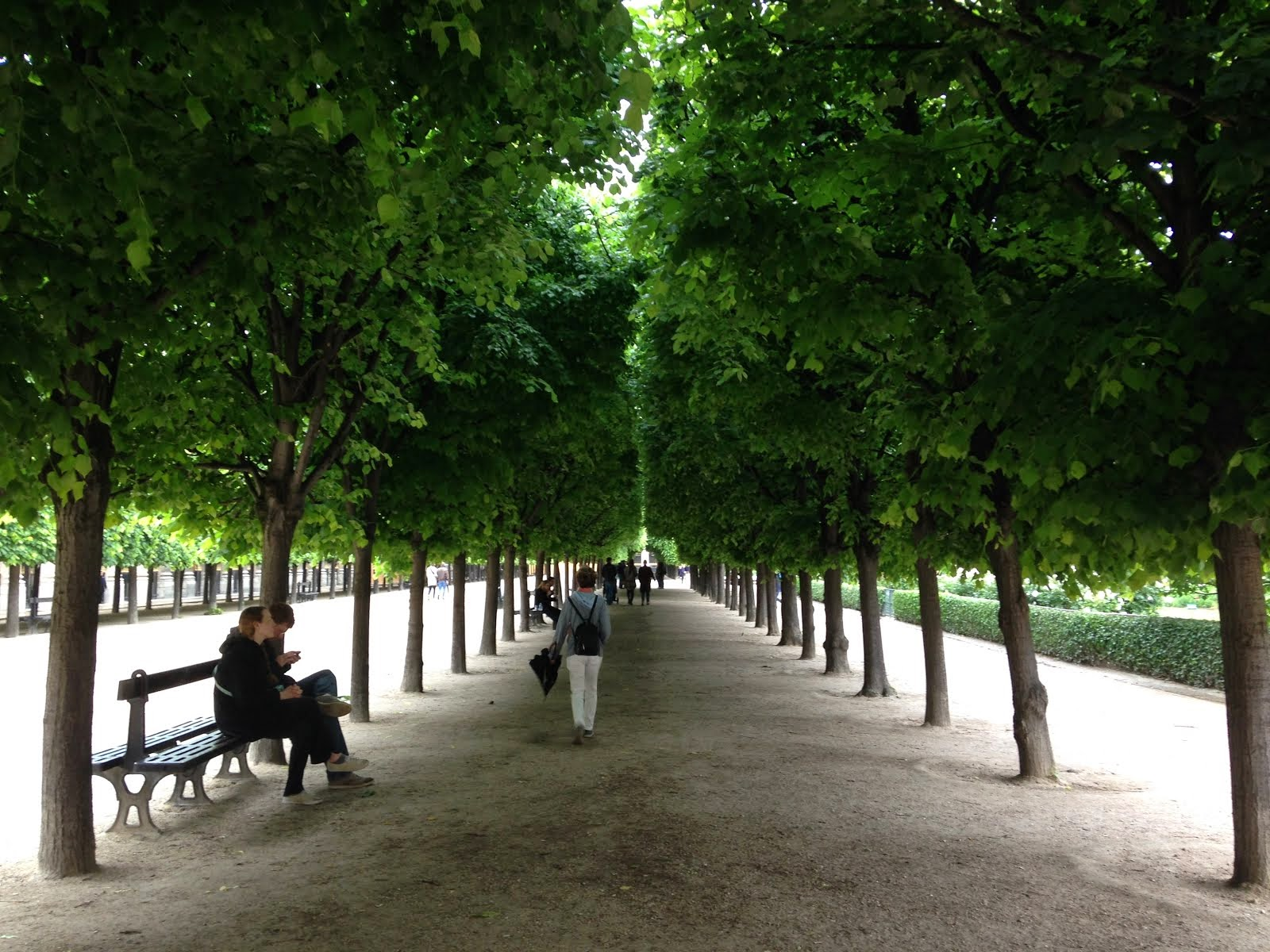 Le Palais Royal, between the trees and light showers