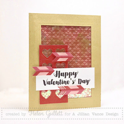 Happy Valentine's Day - No Bulky Shaker Card