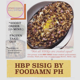 HBP Sisig by Foodamn Philippines