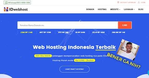 Review IDwebhost: Apakah Memuaskan Domain dan Hostingnya?