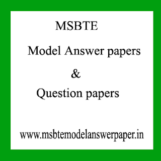 MSBTE QUESTION PAPER FOR WINTER SUMMER 2018