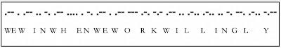 dots and dashes represent Morse Code