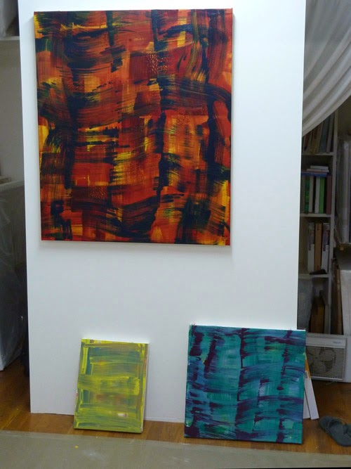 Studio shot Strata paintings