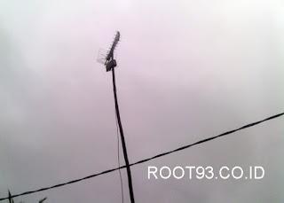 antena yangmenghadap ke arah utara