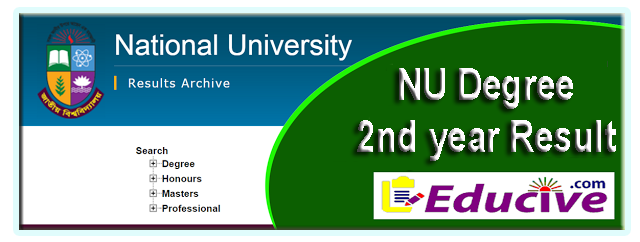 nu degree 2nd year result