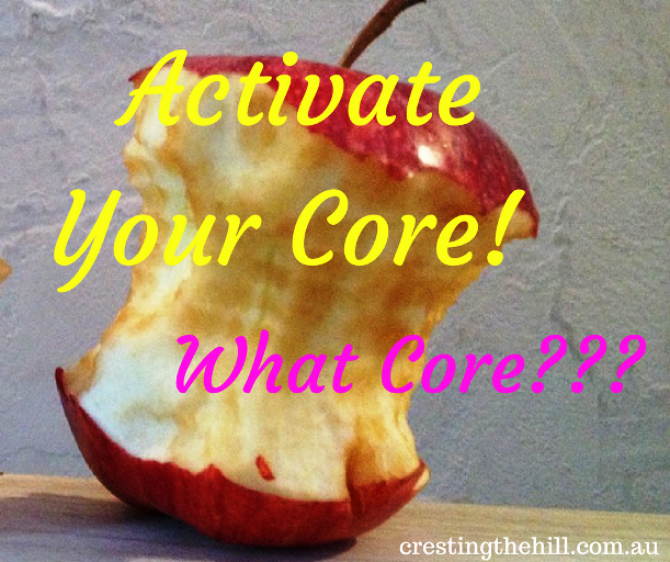 Wind-back Wednesday - Activate Your Core! I would if I could find it!