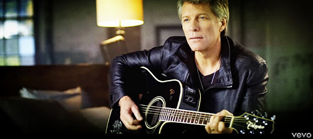 Bon Jovi - Scars On This Guitar LYRICS, VIDEO