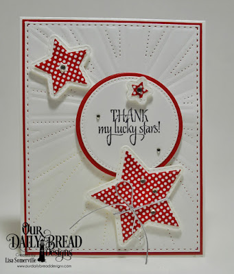 Our Daily Bread Designs Stamp Set: Superstar, Custom Dies: Sparkling Stars, Double Stitched Stars, Pierced Circles, Circles, Sunburst Background, Paper Collection: Old Glory