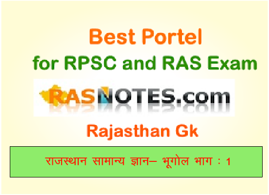 Rajasthan GK: Geography of Rajasthan in hindi (Part-1)