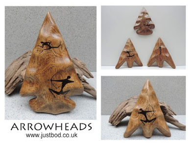Sculpted Arrowheads in Oak from Justbod