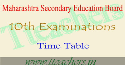 Maharashtra SSC Time Table 2018 MAH Board 10th Exam dates