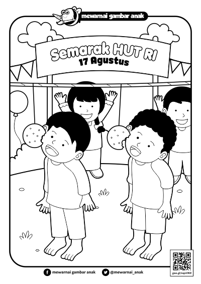Gambar Mewarnai Hari Kemerdekaan Anak Tk Dan Sd