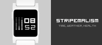 Stripemalism watchface for Pebble 2