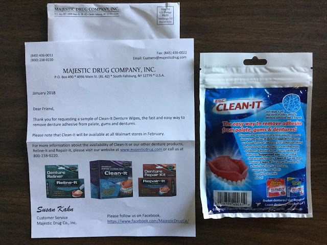 FREE Clean-It Advanced Denture Wipes (Survey Required)