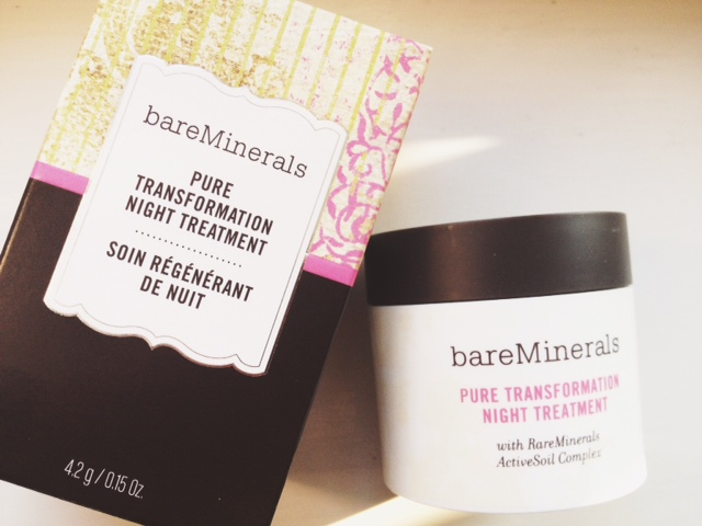 bareMinerals, mineral skincare, skincare, bareMinerals Pure Transformation Night Treatment, bare minerals, beauty