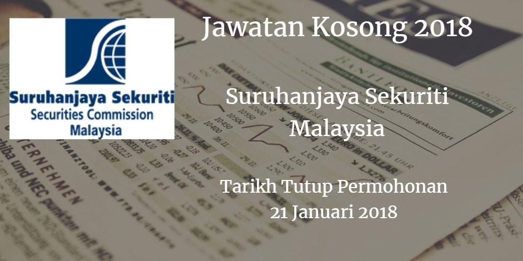 Jawatan Kosong Suruhanjaya Sekuriti Malaysia 21 Januari 2018