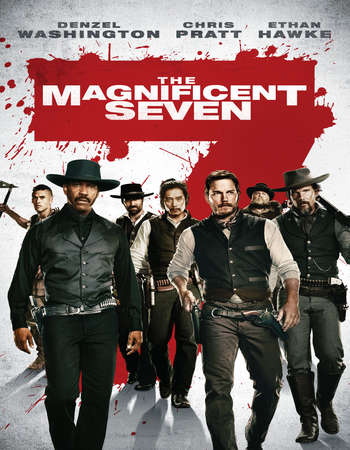 Poster Of The Magnificent Seven 2016 Hindi Dual Audio 550MB BluRay 720p ESubs HEVC Free Download Watch Online downloadhub.in