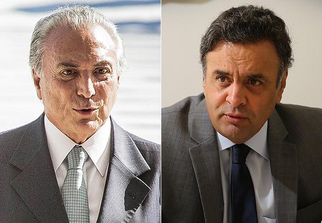 Depois de encontro, Temer e Aécio acertam participação de PSDB em eventual governo