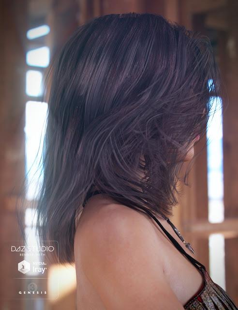 Wildling Hair for Genesis 3 Female