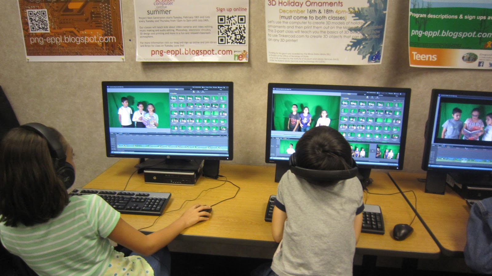 PNG @ ELMWOOD PARK PUBLIC LIBRARY: Movie Making (Mid-Kids) - Day 5