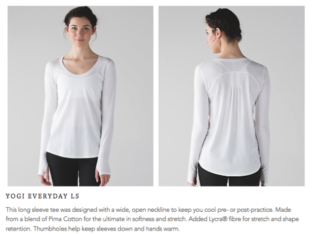 lululemon yogi-everyday-ls