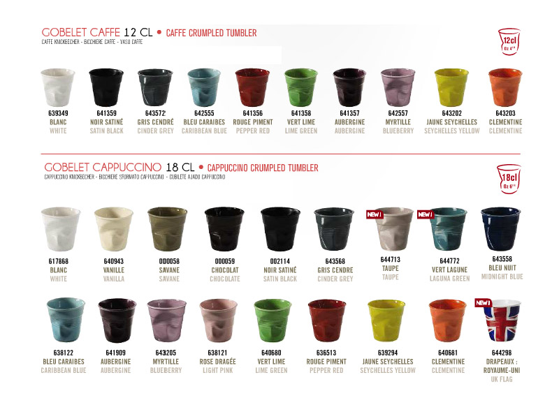 New Crushed Porcelain Cups Tumblers Containers And