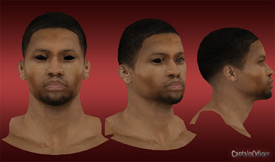 NBA 2K13 Rudy Gay Cyberface Mod