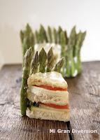 Pastel - sandwich de verduras
