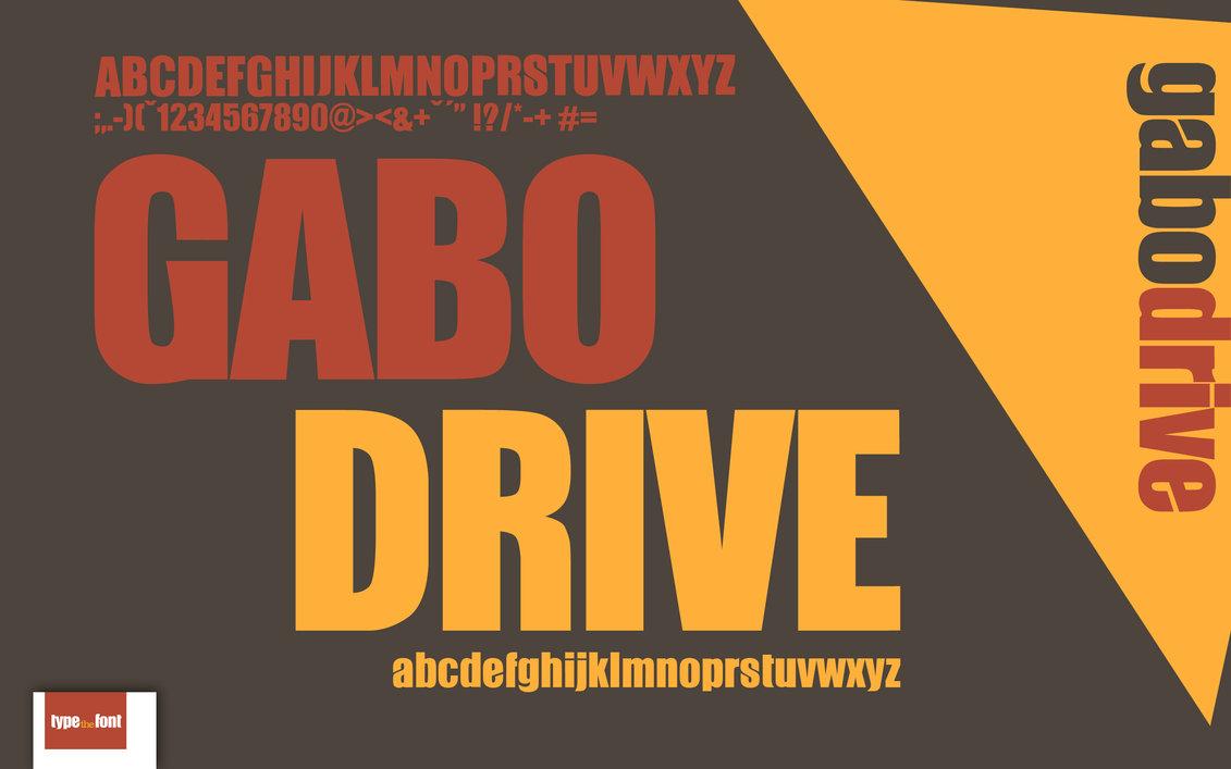 Gabo Drive Plain, Blod Sans-Serif Font Free Download | Free Type Fonts