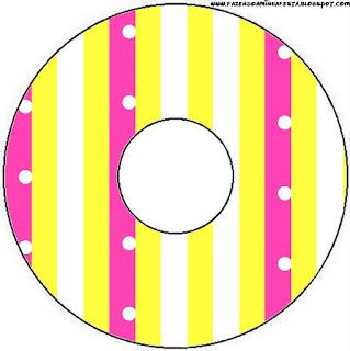 Etiquetas de Rosado y Amarillo para CD's.