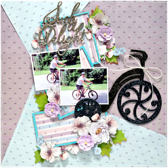 Such A Delight Bike Layout by Dana Tatar for FabScraps