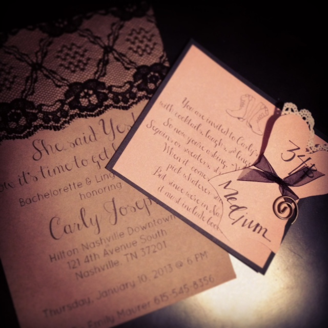 Southern Bells Diy Bachelorette Invites