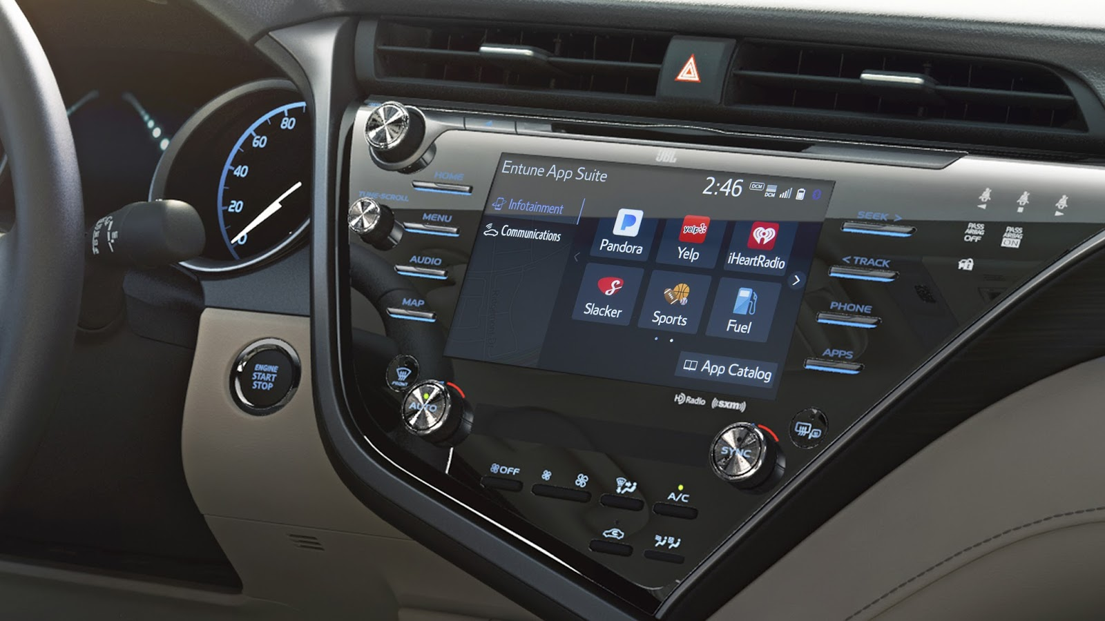 AGL linux infotainment toyota camry
